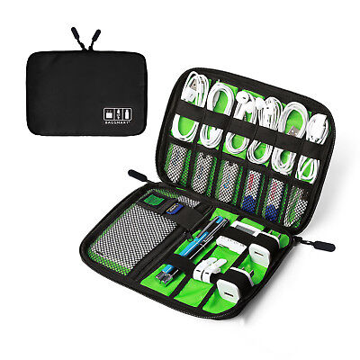 Travel Portable Electronic Accessories Cable USB Drive Organizer Bag Insert Case