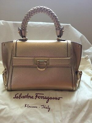 e5fef0031fd Authentic Salvatore Ferragamo Sophia Metallic Leather Handbags   2100