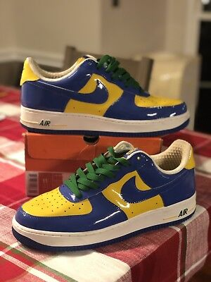 4fee49546e8b NIKE PREMIUM AIR Force One BRAZIL WORLD CUP Deadstock Size 10 ...
