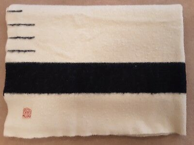 HUDSON'S BAY POINT BLANKET, 3 1/2 Point Twin,100 Years Old, Wool, Exceptional