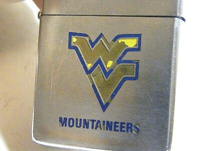 Zippo 1984~Super Rare West Virginia Mountaineers WV Collage Football Lighter-ORG