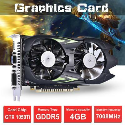 128Bit Expansion GTX1050T4G GDDR5 Dual Fan Cooling Game Graphics Card Video Card