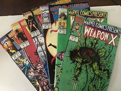 MARVEL COMICS PRESENTS 73;75;76;77;79;82  VOL.1 (WOLVERINE) WEAPON X 6 issue lot