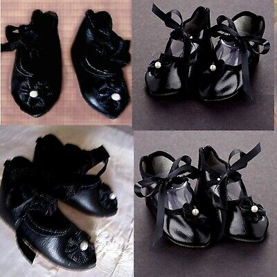 """German bisque doll 3 15//16/"""" long sz1 French antique style shoes for French"""