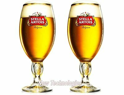 *NEW* STELLA ARTOIS Chalice 40CL Belgium Beer Glass Pint - Glassware  (SET OF 2)