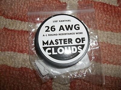 Master of Clouds Kanthal 100 Feet 26 Gauge AWG Resistance Wire