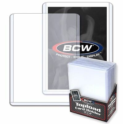 200 BCW Trading Card Hard Plastic Topload Holders + 200 Soft Poly Penny Sleeves