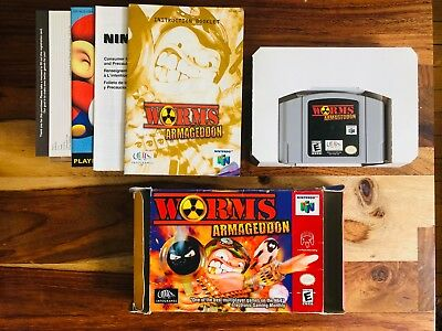 Worms: Armageddon Nintendo 64 N64 CIB 100% Complete Box Manual Reg Card V RARE