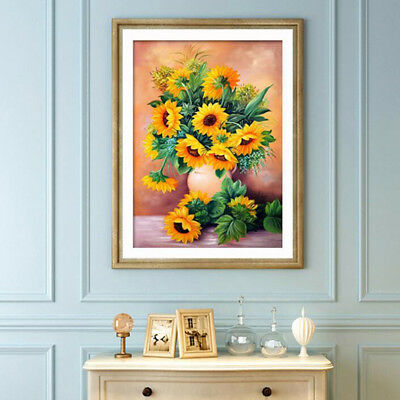 DIY 5D Diamond Embroidery Painting Full Square Sunflowers Cross Stitch Mosaic BS