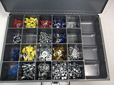 Klein Tools #54440 Small Parts Drawer 21 Compartment Full of Electrical Parts