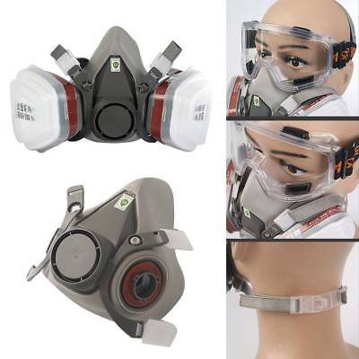 Full Face  Survival Gas Mask&Goggles Dual Protective Filter Respiratory Tool
