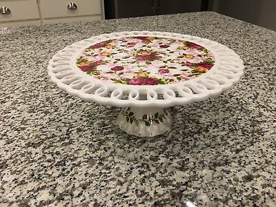 Royal Albert Old Country Roses Cake Plate Stand