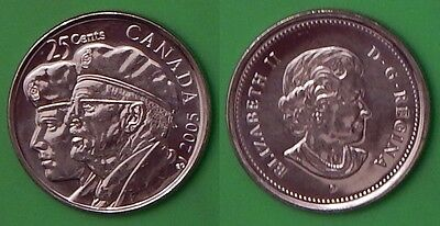 2005 Canada (P Mark) Year of the Veteran 25 Cents From Mint's Wrapped Roll