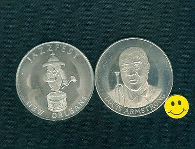 1968 LOUIS ARMSTRONG - Jazz Fest New Orleans Nickel Medal Doubloon