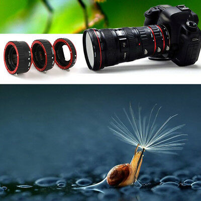 Practical Metal Mount Auto Focus AF Macro Extension Tube for Canon EOS EF-S Lens