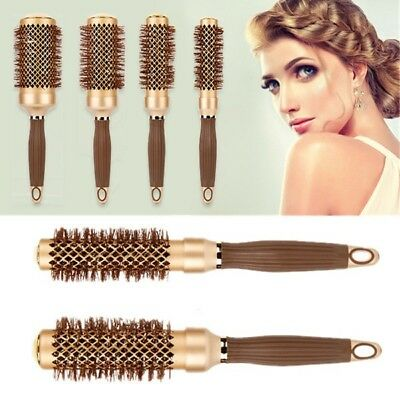 4 Sizes Hair Brush Ceramic Iron Round Comb Barber Dressing Salon Styling