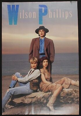 """WILSON PHILLIPS promotional poster 1990 SBK Records 24"""" x 36"""""""