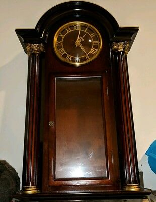 Out of Production Bombay Company Wooden Pendulum Wall Clock