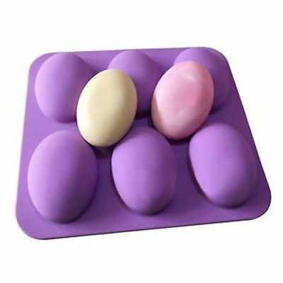 Soap Oval Silicone Baking Mould Cake Chocolate Candle Mold Mini DIY Mould SM