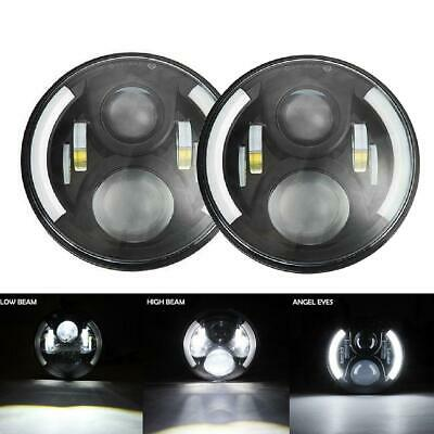 2X 7Inch Round 150W CREE LED Headlights Hi/Lo For JEEP JK TJ LJ Wrangler Harley