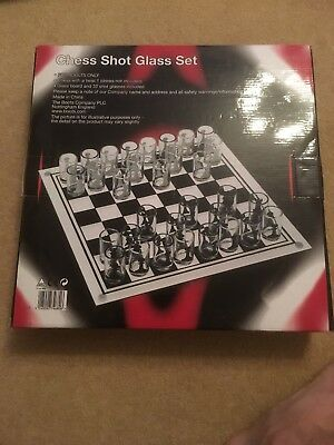 Shot Glass Chess Set - Never been used - Excellent Condition