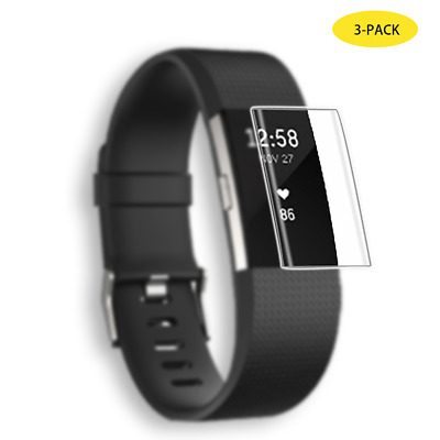 3 Pack For Fitbit Charge 3 Watch Tempered Glass Full Edge Cover Screen Protector