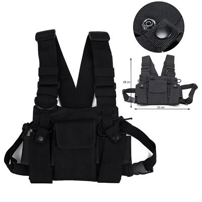 Radios Pocket Radio Chest Harness Chest Front Pack Pouch Holster Vest Rig Bag