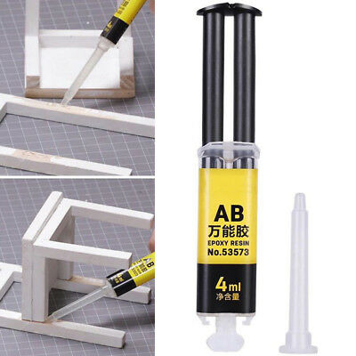 4ml Universal Epoxy Resin AB Glue Strong Adhesive Repair for Glass Ceramics Plas