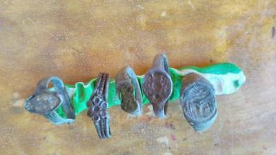 lot of ancient bronze rings