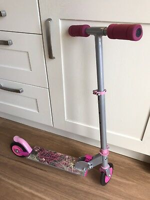 No Fear Kids Folding Inline Scooter, Pink,  Boxed, Age 5+ Vgc -Collection - Ta1