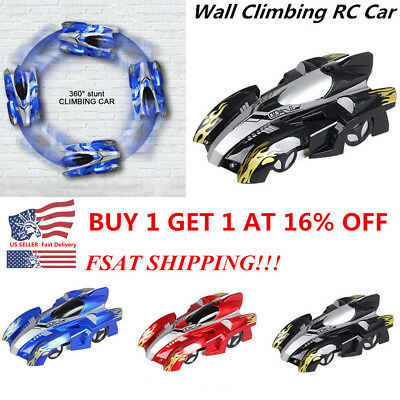 Wall Climbing Climber RC Racer Radio Remote Control Car Toy Xmas Gift For Kid US