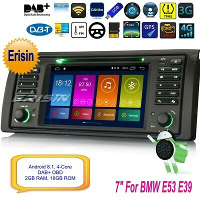 BMW E53 Autoradio Android 8.1 E39 X5 5er M5 Car DVD DAB+ 4G TNT Bluetooth 2853FR