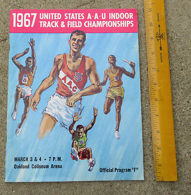1967 US  AAU Indoor Track & Field Championships Program Oakland Coliseum