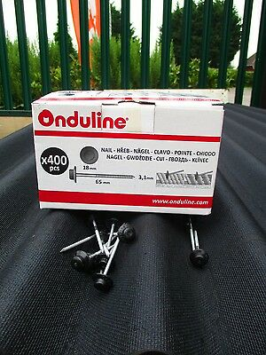 Box of 400 Genuine Onduline Nails for fixing Roofing - Black