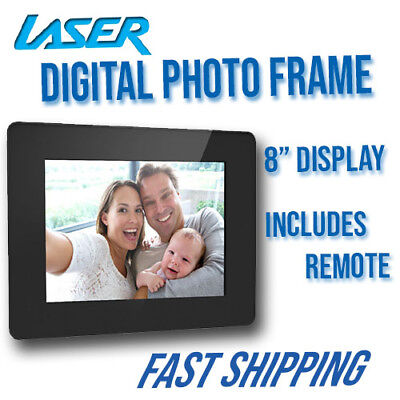 "Laser CONNECT 8"" Digital Photo Frame (New)"