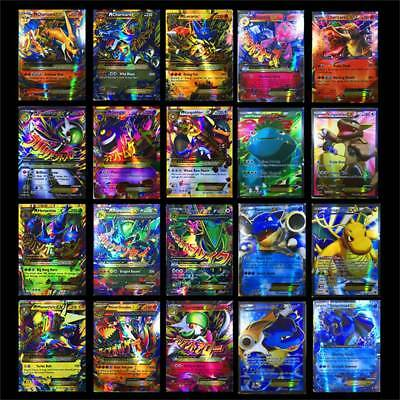 60 Pcs/Lot Pokemon EX Card All MEGA Holo Flash Trading Cards Charizard Venusaur
