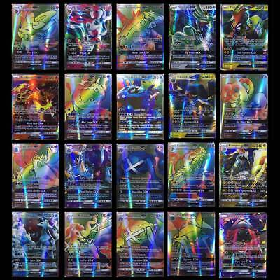 Gift 70Pcs All Holo Flash Card Pokemon Sun&Moon 69GX+1TRAINERI MEGA Snorla GX