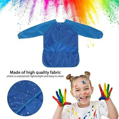 Bib Apron Children Baby Kids Toddler Waterproof Long Sleeve Art Smock Feeding
