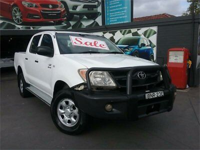 2005 Toyota Hilux GGN25R SR (4x4) White 5 SP AUTOMATIC Dual Cab Pick-up