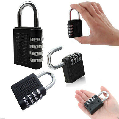 4 Digit Combination Padlock Number Luggage Travel Code Lock