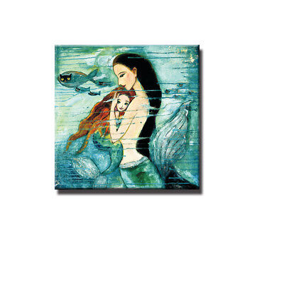 Mermaid Canvas Modern Home Wall Decor Art Oil Painting Picture Print Unframed