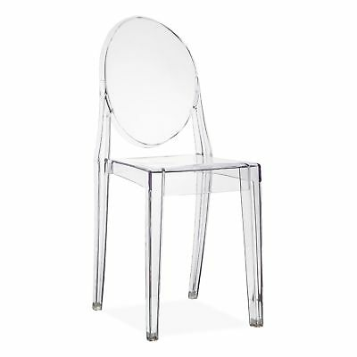 Clear Dining Chairs Set Designer Ghost Style Retro Kitchen Office Chair 2 4 6 8