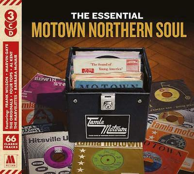 THE ESSENTIAL MOTOWN NORTHERN SOUL New & Sealed 3CD set 60s 70s (Spectrum)