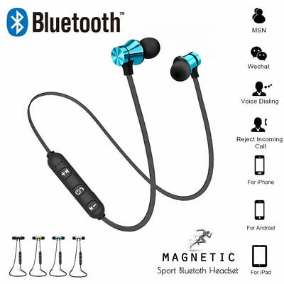 Headphones Headsets Wireless w/ In-Ear Bluetooth Mic Stereo Sports Earphones UK