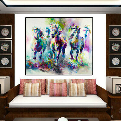 Horse Oil Wall Painting Canvas Picture Art Print Unframed Mural Shops Home Decor