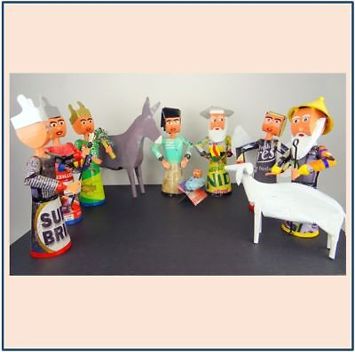 Mali Recycling Upcycling Krippe Weihnachten Nativity Set Xmas Creche Noel