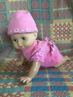 MGA 050912-1555df Vintage Bouncy Laughing Baby Doll Plastic Fabric