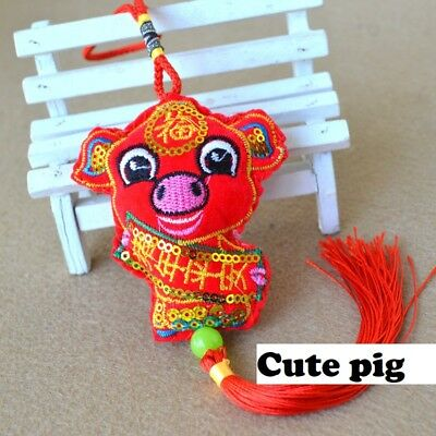 Chinese New year Pig piggy Decoration Lucky Bless Gold Rich Home car Safety NEW