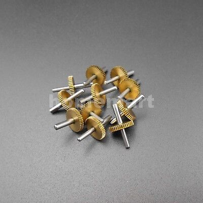 SOLID BRASS MATCHING SPUR GEAR SET 8-57 TEETH 7.125 RATIO FOR REDUCTION BOX !
