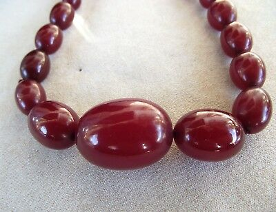 Antique Cherry Amber / bakerlite necklace - matching earrings listed separately